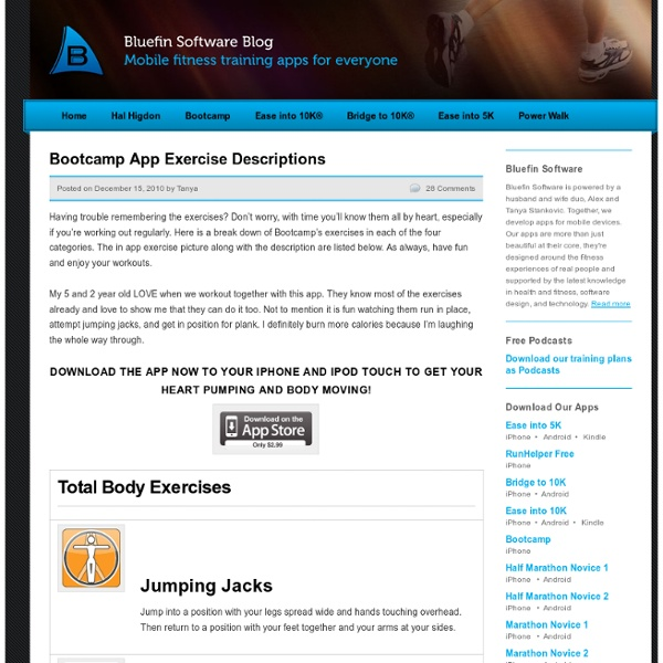 Bootcamp App Exercise Descriptions « Couch to 5K