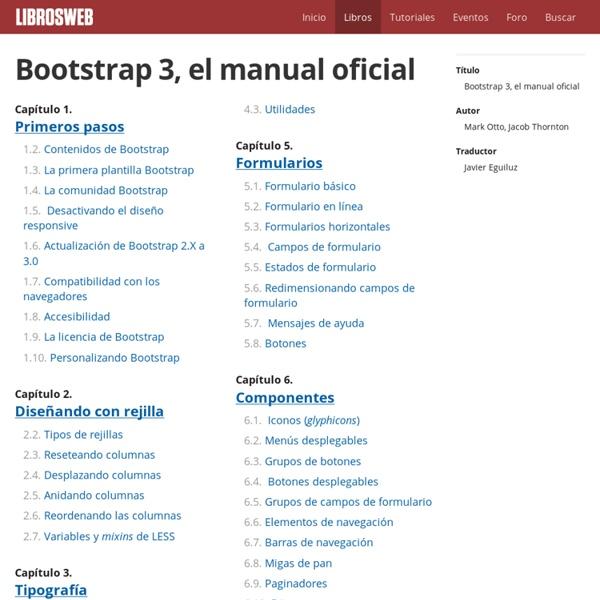 Bootstrap 3, el manual oficial