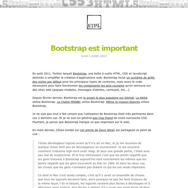 Bootstrap est important