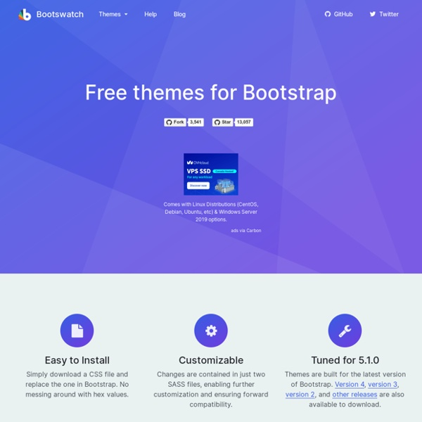 Bootswatch: Free themes for Bootstrap
