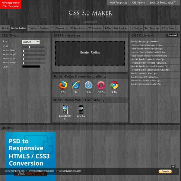 CSS 3.0 Border Radius