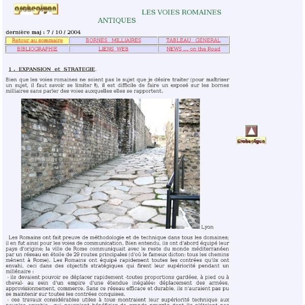 Bornes Milliaires : Voies romaines