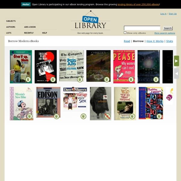 Borrow Modern eBooks