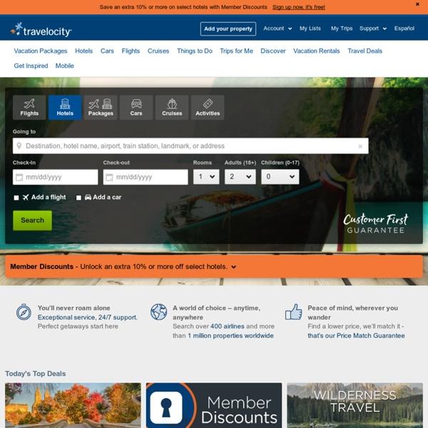 Cheap Hotels, Flights, Vacations & Travel Deals