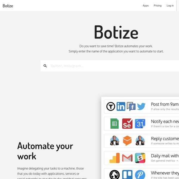 BOTIZE - Tu Bot en Twitter