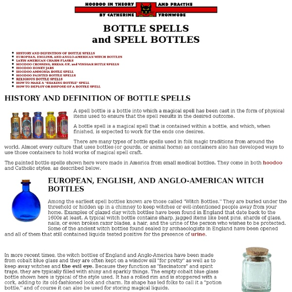 Bottle Spells and Spell Bottles