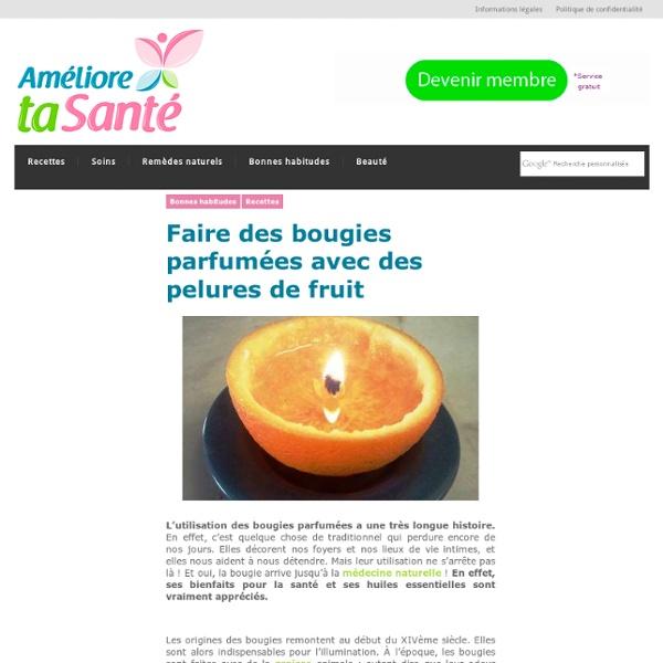 Faire des bougies parfumées avec des pelures de fruit