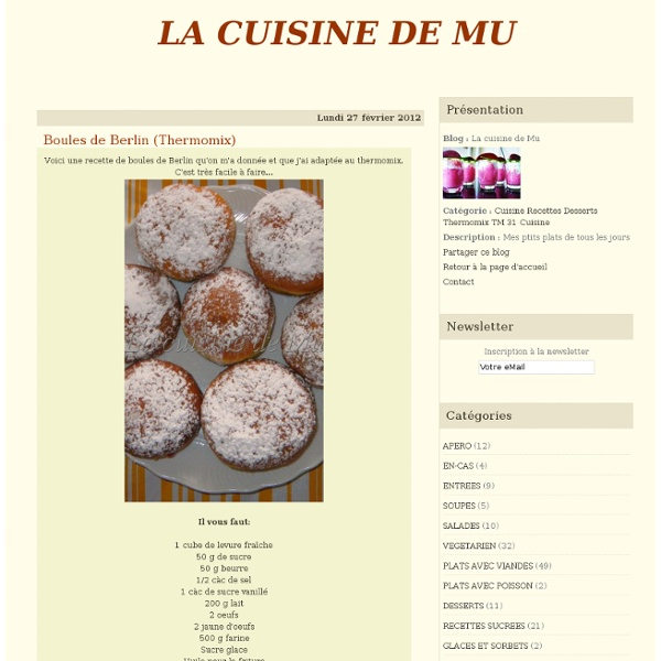 Boules de Berlin (Thermomix)