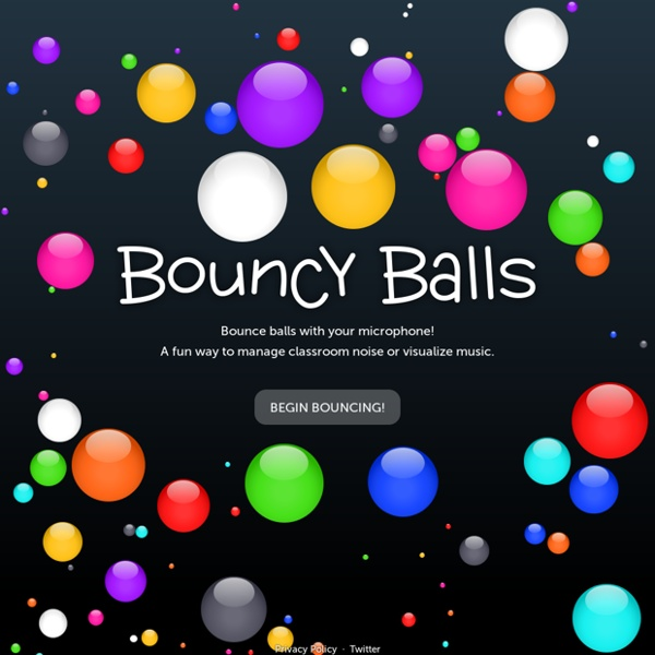 Bouncy Balls - Bounce balls with your microphone!