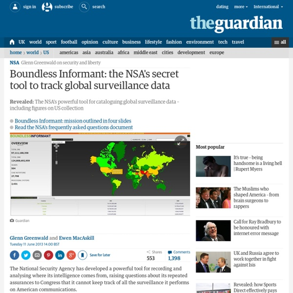 Boundless Informant: the NSA's secret tool to track global