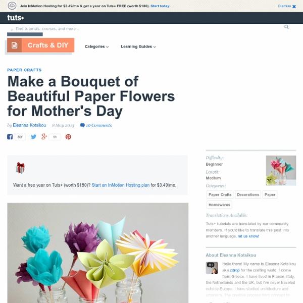 'origami' flowers