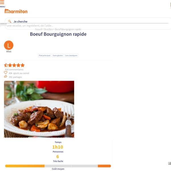 Boeuf Bourguignon rapide : Recette de Boeuf Bourguignon rapide