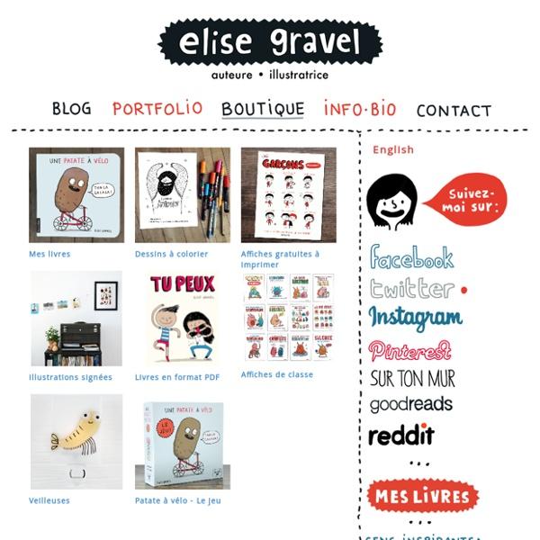 Activités proposées par Élise Gravel : coloriages, lecture, etc.