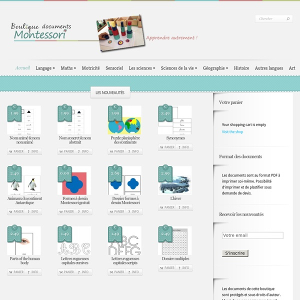 Boutique ''documents Montessori''