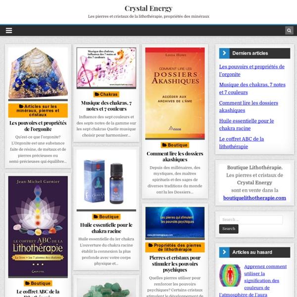 Crystal Energy boutique lithothérapie