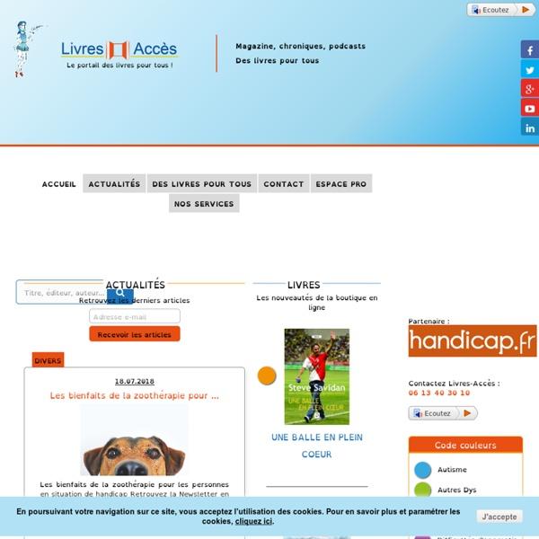 Livres Acces- Livres jeunesse adaptés aux handicaps