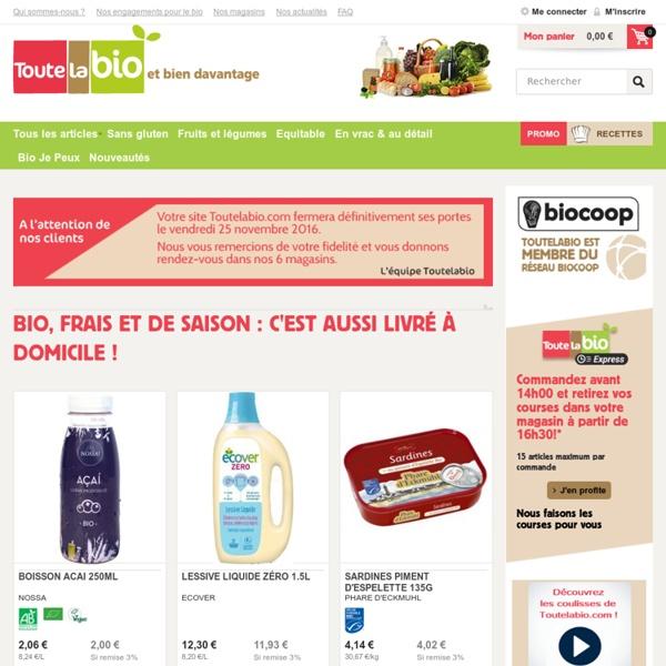 Toutelabio - Produits bio : frais, épicerie, produits écologiques. Commandez en ligne