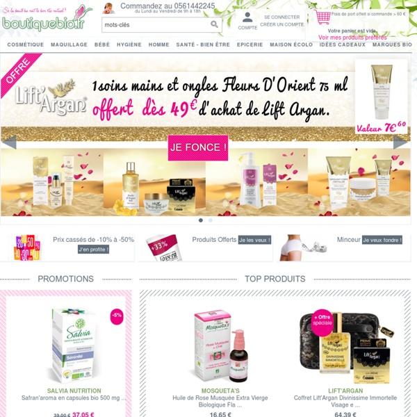 Produit bio, cosmétique bio et maquillage bio sur Boutique Bio