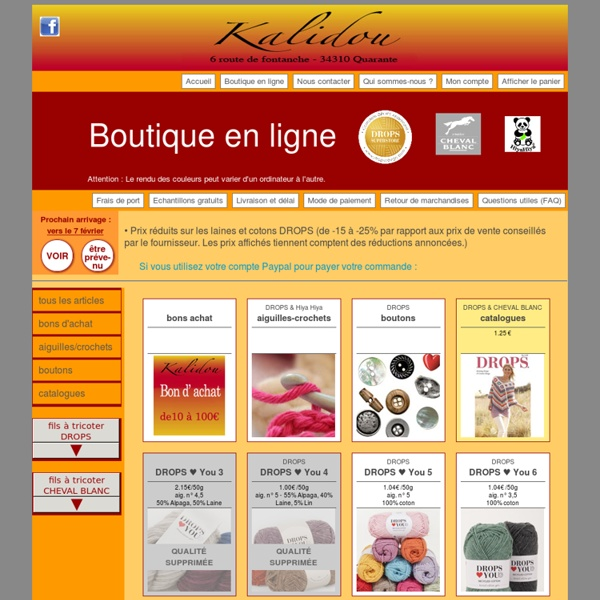 Boutique ligne Drops, Cheval Blanc, Hiya Hiya - laine, fil à tricoter, aiguilles
