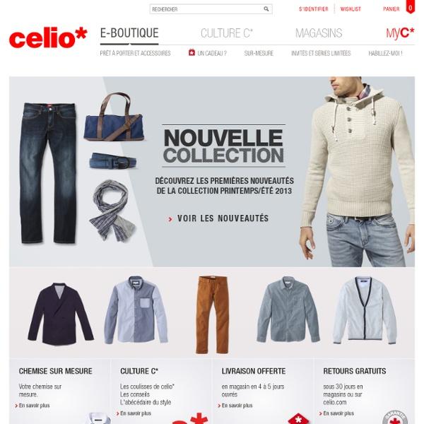 Boutique en ligne celio