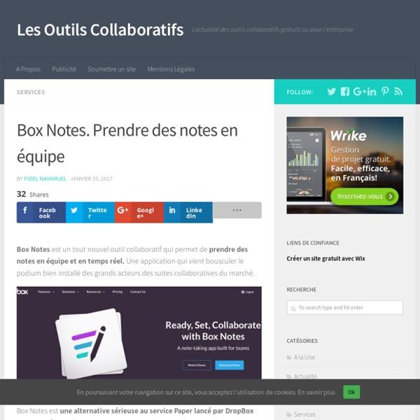 Box Notes. Prendre des notes en équipe - Les Outils Collaboratifs
