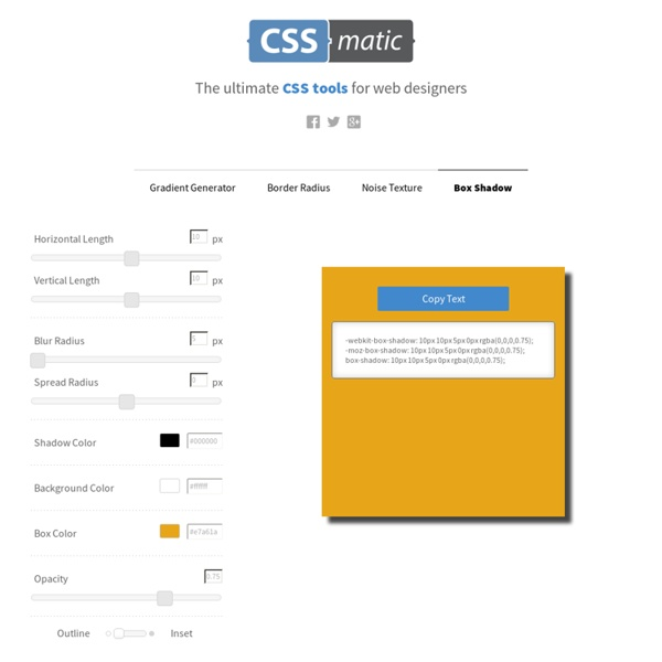 Box Shadow CSS Generator | Pearltrees