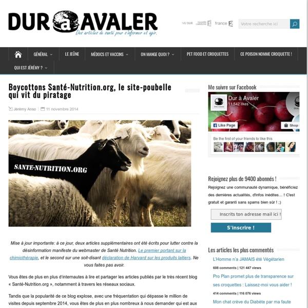 Boycottons Santé-Nutrition.org, le site-poubelle qui vit du piratage