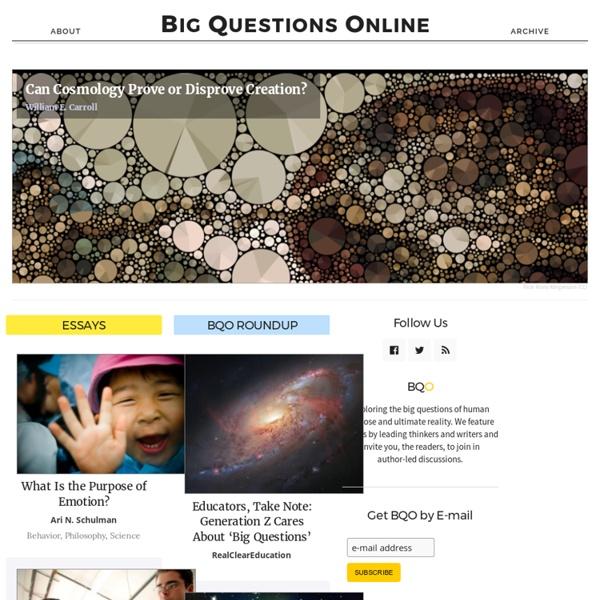 Big Questions Online
