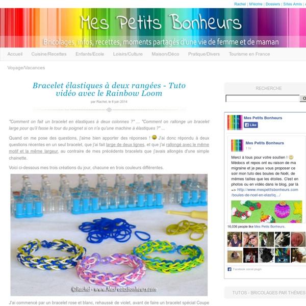 Bracelet élastique à deux rangées – Tuto vidéo avec le Rainbow Loom