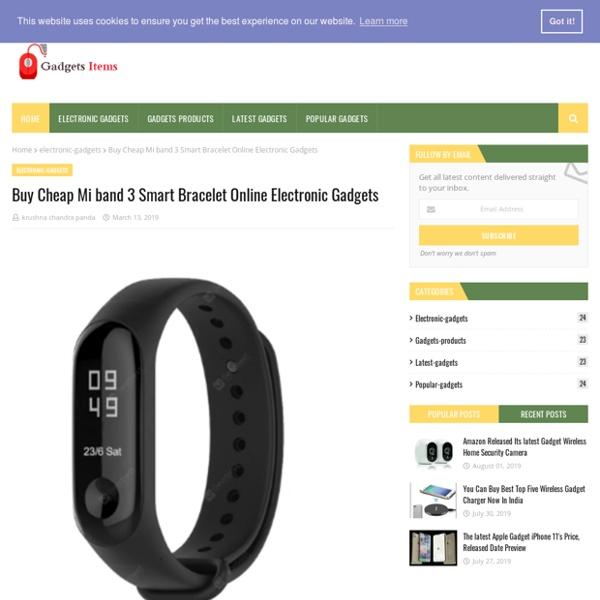 Buy Cheap Mi band 3 Smart Bracelet Online Electronic Gadgets