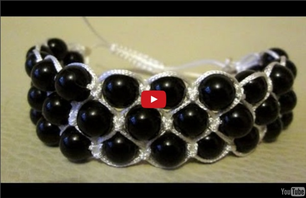 Make A 3 Row Shamballa Bracelet