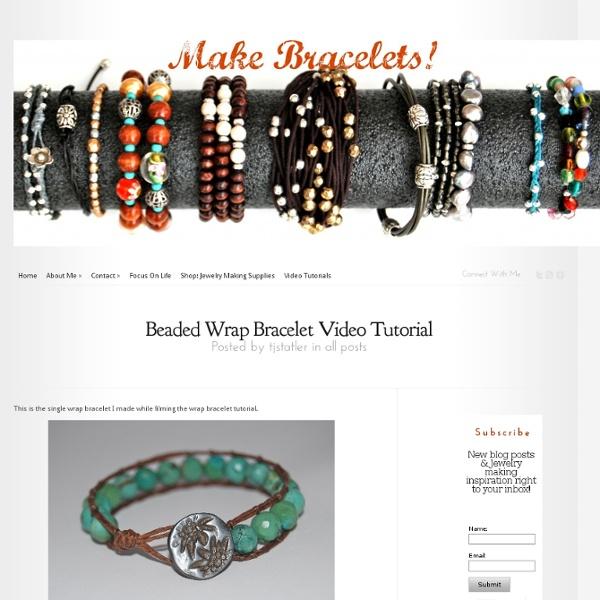Beaded Wrap Bracelet Video Tutorial