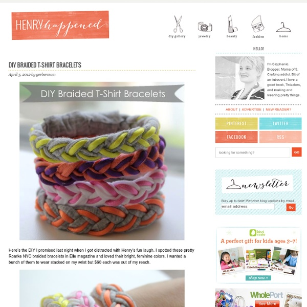 DIY Braided T-Shirt Bracelets