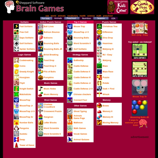 Brain Games - Fun Games That Train Your Mind