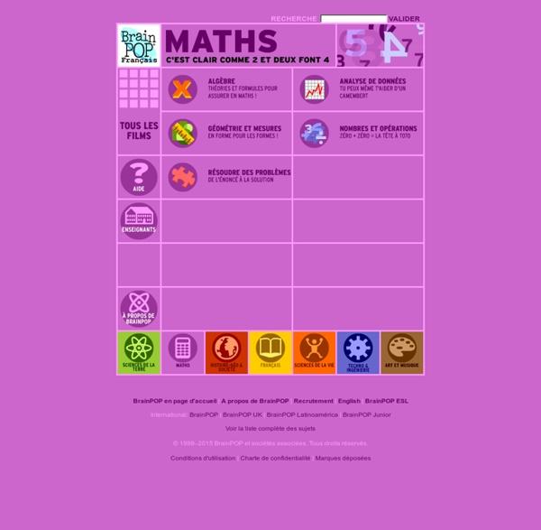 Brainpop - Mathématiques