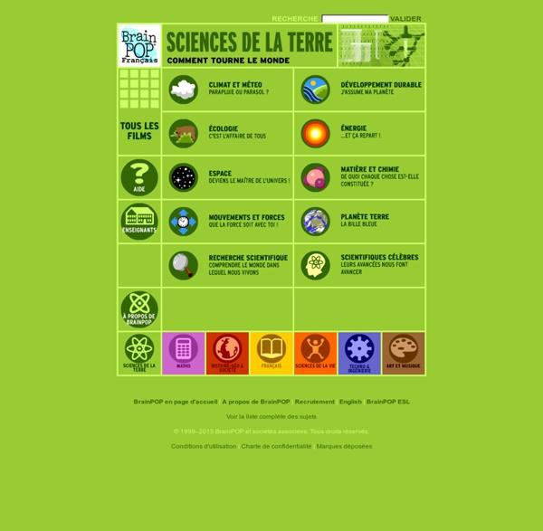 Brainpop - Sciences de la Terre