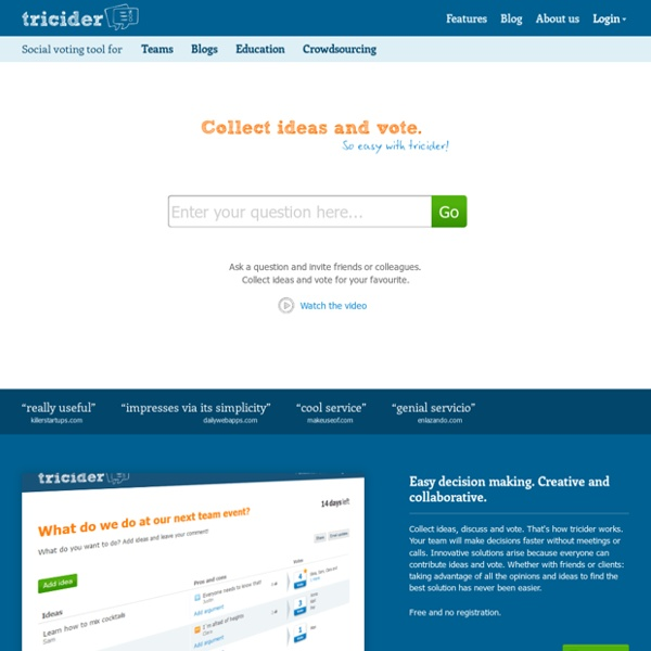 TRICIDER - Brainstorming and Voting