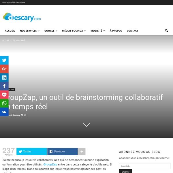 GroupZap, un outil de brainstorming collaboratif en temps réel