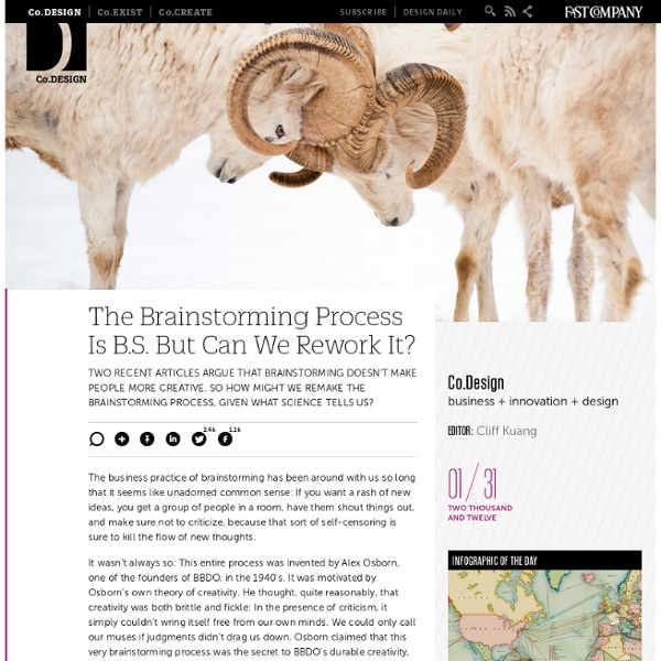 The Brainstorming Process Is B.S. But Can We Rework It?