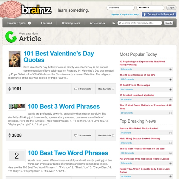 Brainz — Learn something new today.