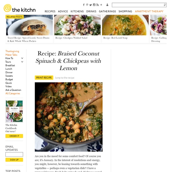 Braised Coconut Spinach & Chickpeas with Lemon | Pearltrees
