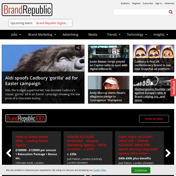 Advertising, media, marketing and PR news & jobs - Brand Republic