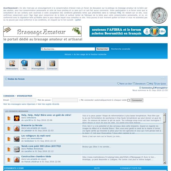 Le forum du Brassage Amateur