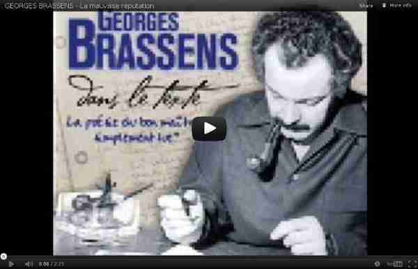 GEORGES BRASSENS - La mauvaise reputation - YouTube