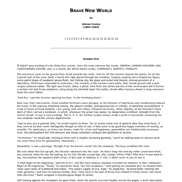 huxley essay An analysis of brave new world by aldous huxley new world essay brave new world is a novel written in the early 1930's about a utopian society where everyone.