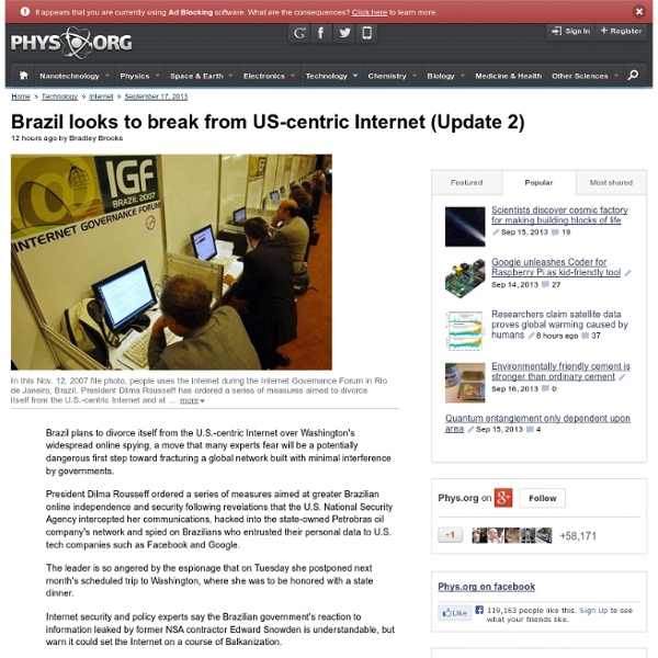 Brazil looks to break from US-centric Internet (Update 2)