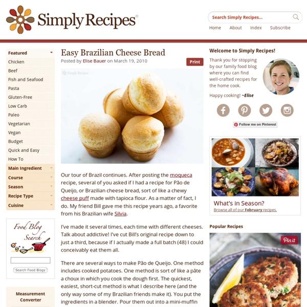 Easy Brazilian Cheese Bread (Pão de Queijo)   Pearltrees