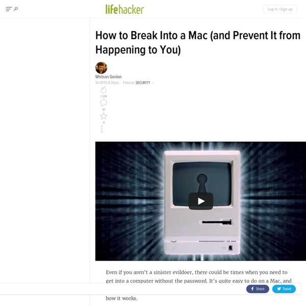 How to Break into a Mac (And Prevent It from Happening to You) - Lifehacker