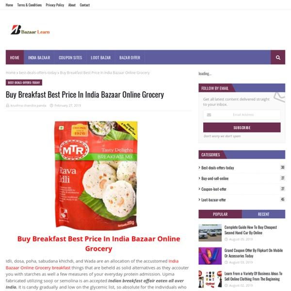 Buy Breakfast Best Price In India Bazaar Online Grocery