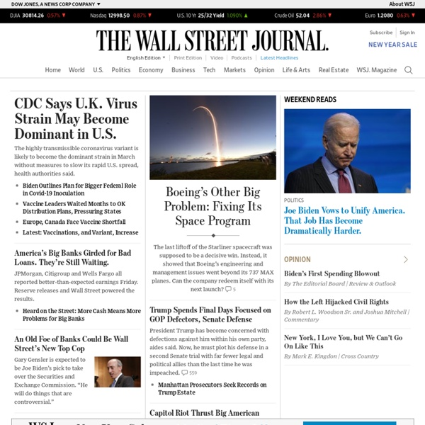 Business News & Financial News - The Wall Street Journal - Wsj.com